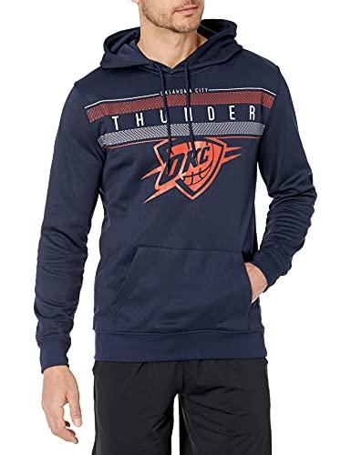 Ultra Game NBA Oklahoma City Thunder Mens Fleece Midtown Pullover Sweatshirt, Navy, Large