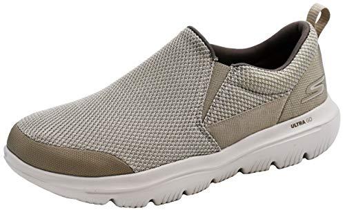 Skechers Men's Go Walk Evolution Ultra-Impeccable Sneaker, Stone, 13 M US