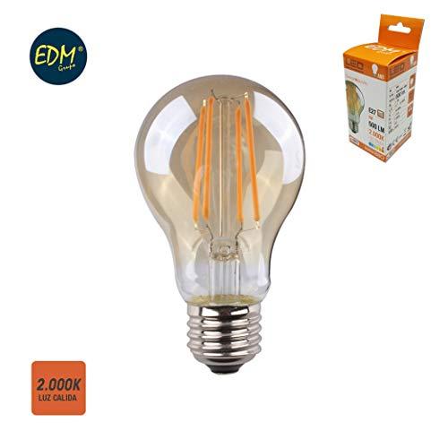 Edm 98625 Ampoule standard filament, LED verre vintage, lumière chaude