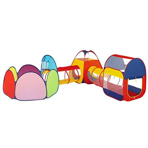 SHWYSHOP Tienda de campaña 5 en 1 para niños con canal de gateo, agujero de bola para niños, piscina de bolas interior/al aire libre