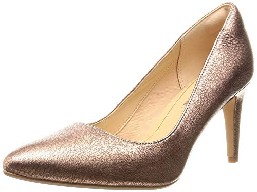 Clarks Damen Laina Rae Pumps, Gold (Rose Gold Lea), 41 EU