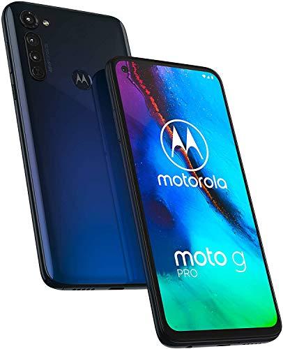 Moto G Pro with Stylus (128GB, 4GB) 6.4' HD+, NFC, Snapdragon 665, 4000 mAh Battery, Dual SIM GSM Unlocked (T-Mobile, AT&T, Global) 4G LTE International Model XT2043-7(Mystic Indigo)