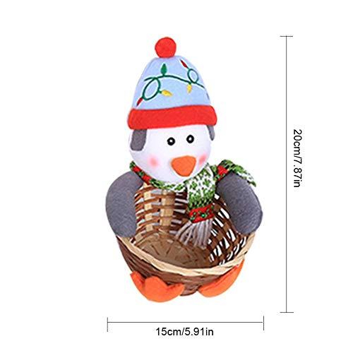 QueenHome Desktop Weihnachtsdekoration Großformat Candy Basket Kinder Candy Basket Desktop Dekoration