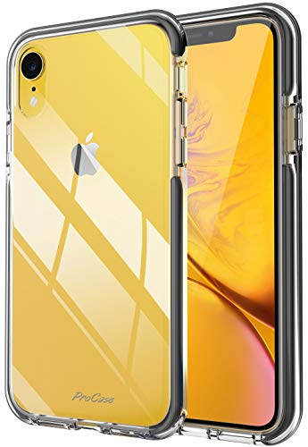 "ProCase iPhone XR Case, Clear Transparent Shock-Absorption Soft Hybrid Bumper Case Back Cover for Apple iPhone XR 6.1"" 2018 Release"