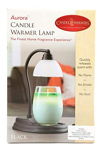 Candle Warmers Aurora Lamp, Black, 10-1/2 x 5 Inches