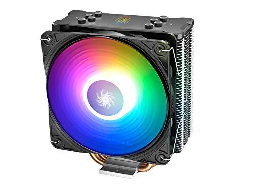 DEEP COOL GAMMAXX GT ADD-RGB, Dissipatore CPU, Ventola 120mm con Illuminazione RGB Indirizzabile, Include Un Controller Via Cavo