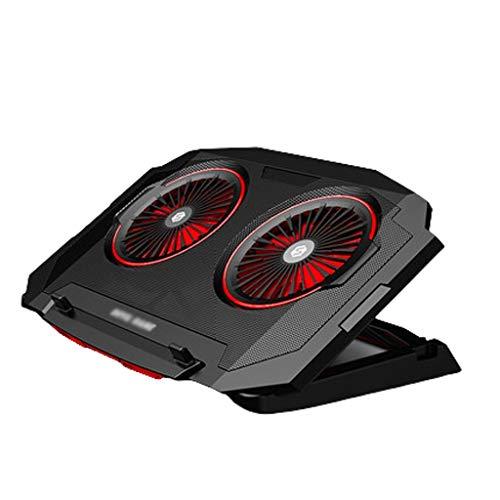 Base Portatil Base Refrigeradora Laptop Cooling Pad, 12 '-17.3' Quiet portátil refrigerador de enfriamiento del cojín del soporte con puerto USB ventiladores silenciosos Powered 5 alturas de ajuste
