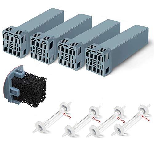 Kit de Filtro CPAP, Cartucho de Juego de Filtro, la CPAP Genérico reemplazo de Filtro for Soclean, Incluye 4 filtros de Cartucho y válvula de retención 4 (Juego de 4)