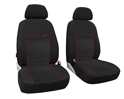 POK-TER-TUNING Vordersitzbezüge 1+1, Sitzbezüge Passend für Citroen Jumpy Design Trend-Line. in,Diesem Angebot Dunkelrot (in 6 Farben Bei Anderen Angeboten erhältlich)