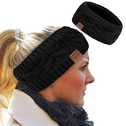 Loritta Womens Ear Warmers Headbands Winter Warm Fuzzy Cable Knit Head...