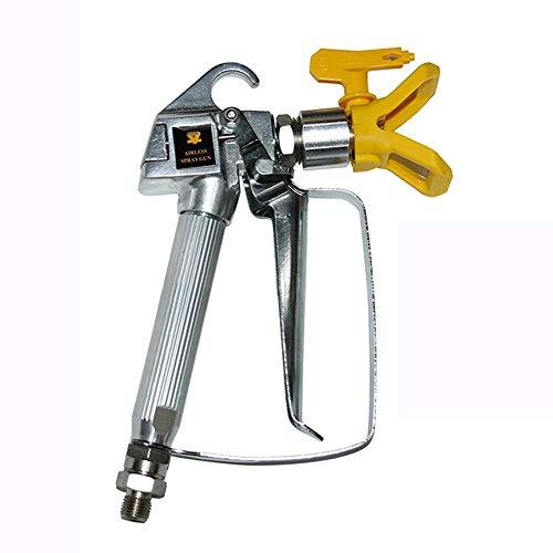 Spruzzatrice airless ad alta pressione, pistola a spruzzo Airless con protezione dell'ugello per la macchina dello spruzzatore della pompa di Graco Wagner Titan (giallo)