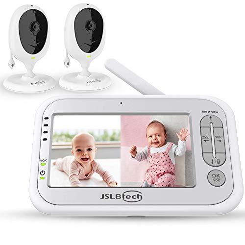 JSLBtech Video Babyphone Geteilter Bildschirm mit 2 kamera 5