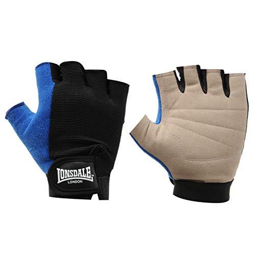 Lonsdale Unisex Fitness Handschuhe Trainingshandschuhe Schwarz/Blau XL