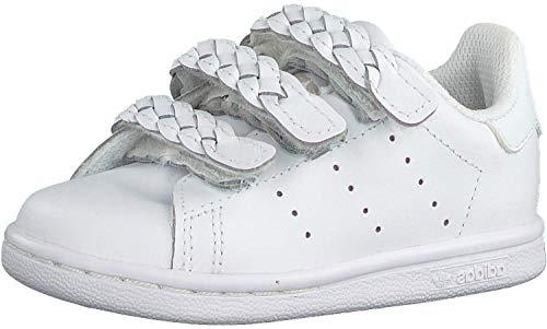 adidas Stan Smith CF First Walker Shoe, Footwear White/Footwear White/Grey, 26 EU