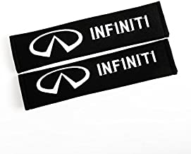 QZS Car Seat Belt Shoulder Pads Strap Covers Cushion 1 Pair/Set for Infiniti
