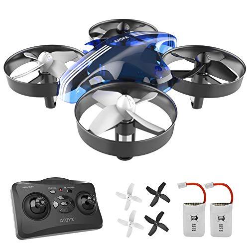 ATOYX Mini Drone, AT-66 RC Drone Niños 3D Flips, Modo sin...