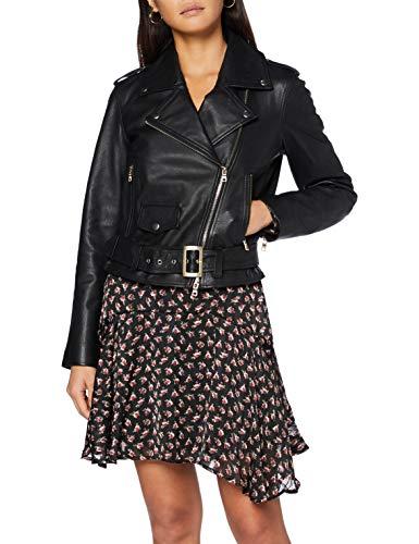 Armani Exchange Blouson Jacket Chaqueta de Cuero, Black, S para Mujer