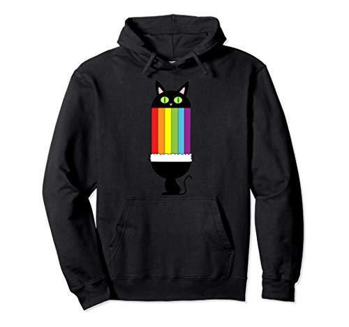 T&D Funny Rainbow Smile Cat Sudadera con Capucha