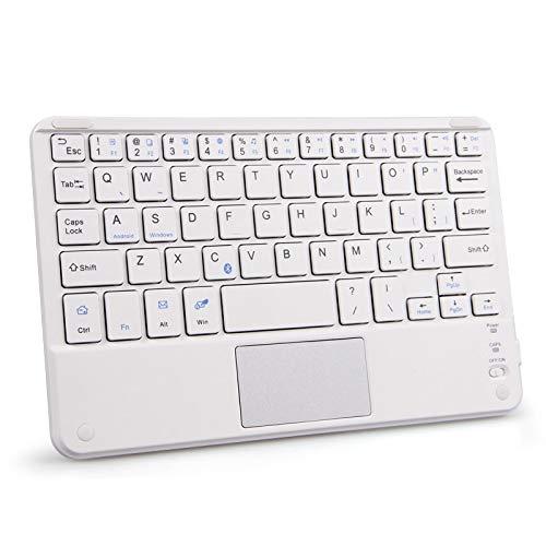 Teclado numérico Fino del Teclado inalámbrico de 7-10 Pulgadas 2.4g. Teclado Bluetooth (Axis Body : 7 Inch, Color : White Keyboard)