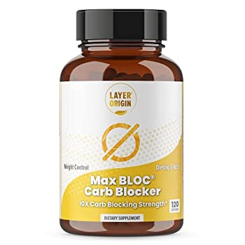 MAX BLOC Carb Blocker | Weight Control Suppress Appetite Healthy Blood Sugar | 60-Day Supply