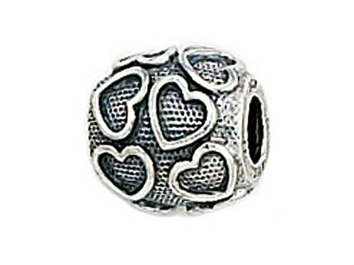 Zable Sterling Silver Floating Hearts Bead / Charm