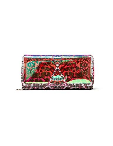 Desigual Mone_kaleidoskope_Maria, Travel Accessory-Bi-Fold Wallet para Mujer, Verde (Kiwi), 3x9.5x20.2 cm (B x H x T)