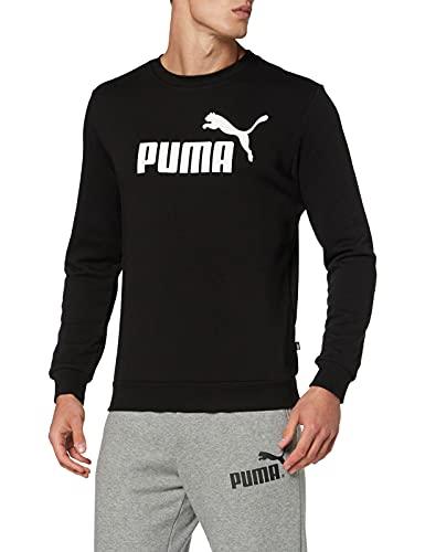 PUMA Ess Crew TR Big Logo, Felpa Uomo, Nero Black), M