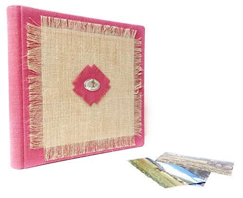 TriVin Art, Álbum de fotos artesanal (comunión) 33 x 33 cm, 50 páginas blancas, con papel protector.