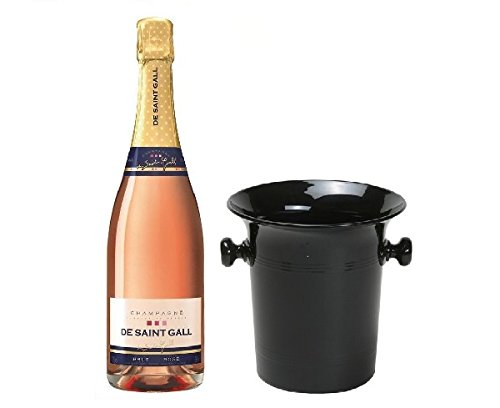 De Saint Gall Brut Rosé Champagner in Champagner Kübel 12% 0,75l Flasche