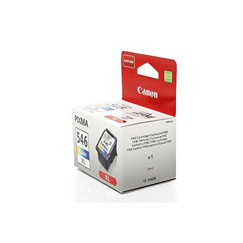 XL Originale Canon 8288B001 / CL-546XL cartucce d'inchiostro (Colore, ca. 300 Pagine, capacità 13 ml) per Pixma IP 2850, MG 2450, MG 2455, MG 2550, MG 2555, MG 2950, MX 495