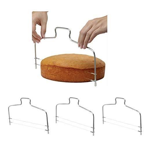 perfeclan 3 stück Küche Tortenschneider Edelstahl Tortenbodenschneider Käse Schneidedraht