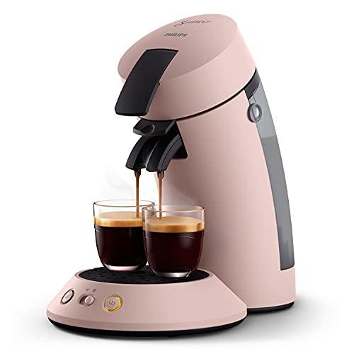 Philips Senseo Original Plus CSA210/30 - Cafetera de monodosis (selección de intensidad, tecnología de café Boost, plástico reciclado), color rosa