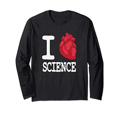 I Heart Science Cardiology Anatomy Long Sleeve T-Shirt