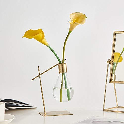 Shunzianson Moderne glazen imulatie combinatie van bloemen vaas gloeilamp hydrocultuur vaas slaapkamer bureau woonkamer decoratie