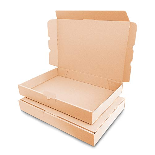 verpacking 100 Maxibriefkartons Versandkartons Faltschachtel Faltkarton Maxibrief 350 x 250 x 50 mm, Braun, MB-5