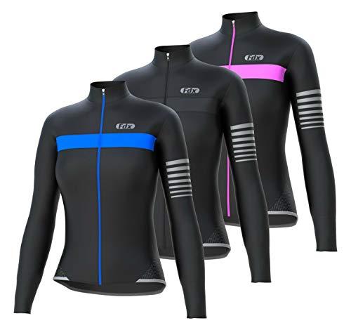 FDX - Giacca invernale da donna, a maniche lunghe, da ciclismo, da donna, termica, per mountain bike, per tutto il giorno Nero M