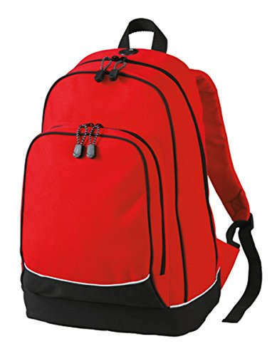 HALFAR® HF3310 Daypack City Rucksäcke Freizeit-Rucksäcke Tasche, Farbe:RED