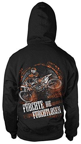 mycultshirt fürchte die Furchtlosen Kapu Herren Motocross Enduro Bike Team Motorrad Sport