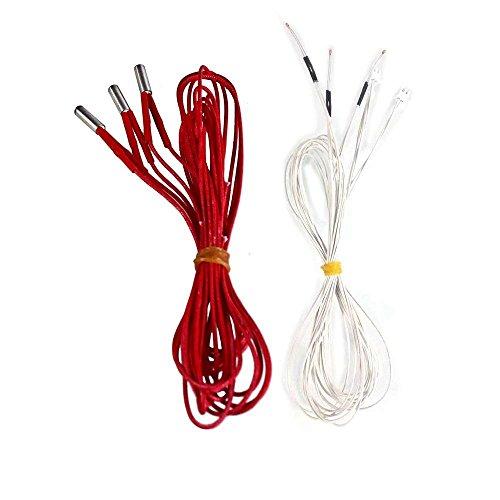 Comgrow 3D Printer Thermistor Temp Sensor Cartridge Heater 24V 3Pcs+3Pcs
