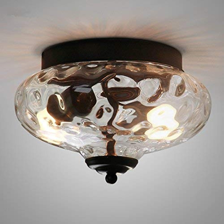 YHEGV Style européen rétro Balcon Restaurant éclairage créatif personnalité américaine Cristal Lampe de Plafond en Verre 230  160 MM