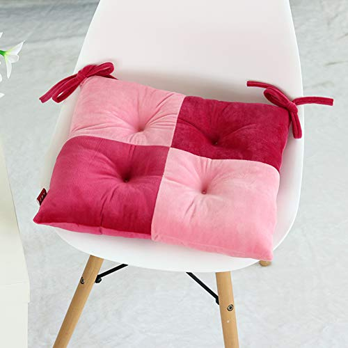 Lefran Plush Chair Cushion,Cotton Padded Dining Fashion Chair Pad,Indoor Outdoor Seat Cushions with Ties Square Washable