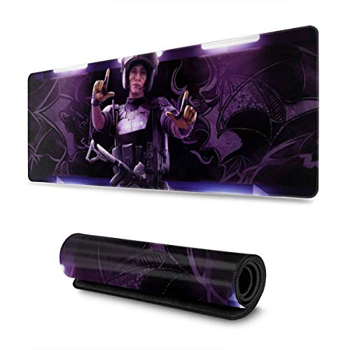 FPSMOUPD Mouse Pad Gaming Large Mira-R6 Extended Mouse Pad with Stitched Edges Non-Slip Rubber Base 31.5' x 11.8' x 0.12'