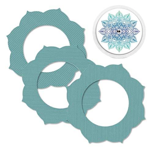 MySweetStitch   Freestyle Libre 1 & 2 parches impermeables, transpirables y respetuosos con la piel incl. pegatina con agujero para sensor en conjunto (3+1) Mandala Mandala