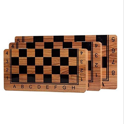 Teri Scacchiera Folding Holz International Chess Set Pieces Set Brettspiel Funny Game Chessmen Sammlung Tragbarer Brett Reisen Spiele Scacchi (Größe : L)