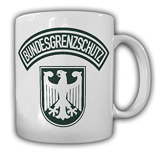 Tasse Bundesgrenzschutz BGS Polizei Wappen Abzeichen Adler Genscher Bogen Uniform Grenzschützer Beamter Becher #23680