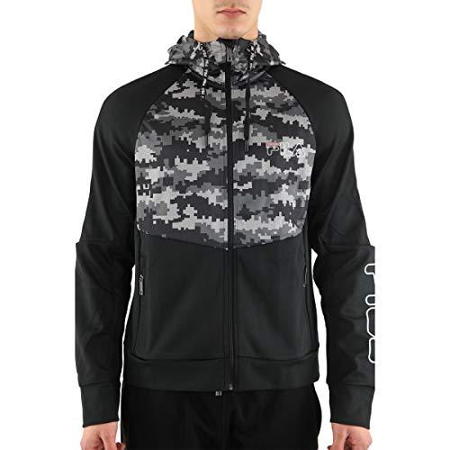 Fila – Aryaan Kapuze mit Reißverschluss – Jacken Sweatshirt mit Reißverschluss Gr. XS, Schwarz