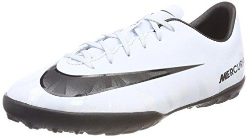 Nike Jr Mercurialx Victry 6 Cr7 TF, Zapatillas de Fútbol Unisex Niños, Blanco (Teinte Bleue/Blanc/Teinte Bleue/Noir), 38.5 EU