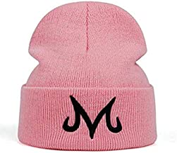 Jun New Brand Majin Buu Winter Hat Cotton Knitted Hat Knitted Beanie Hat for Pink Black (Pink)