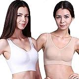 Liaiqing Doppio Strato Senza Giunte della Ragazza Reggiseno Sportivo Plus Size No Anello in Acciaio Vest No Trace Regolazione Yoga Underwear (Color : Rosso, Dimensione : L)