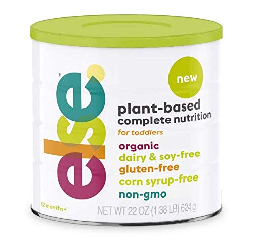 Else Plant-Based Complete Nutrition Formula for Toddlers, 22 Oz., Dairy-Free, Soy-Free, Corn-Syrup Free, Gluten-Free, Non-GMO, Natural Ingredients, Vitamins and Minerals for 12 mo.+, Vegan, Organic